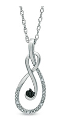 Enter To Win A Black and White Diamond Accent Looping Infinity Pendant