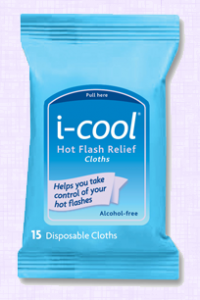 Free 15 Count i-cool Hot Flash Relief Cloths