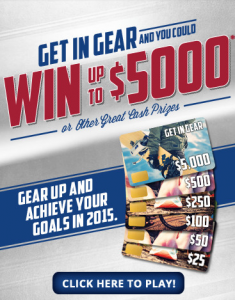 "USA Gold ""Get In Gear"" Instant Win Game And Sweepstakes"