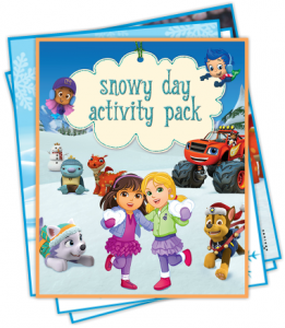 Free Printable Nick Jr. Snowy Day Fan Club Pack