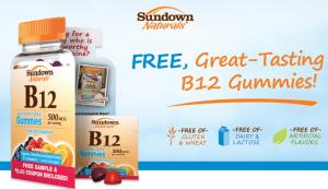 Free Sundown Naturals B12 Gummies