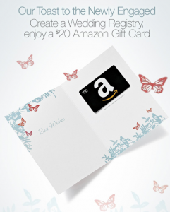 Free $20 Amazon Gift Card For Creating A Wedding Registry