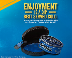 Free Skoal Can Cooler