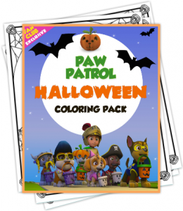 Printable PAW Patrol Halloween Coloring Pack From Nick Jr.