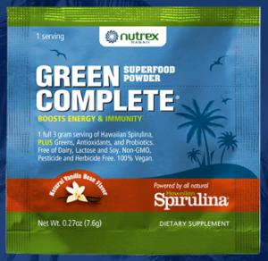 Free Sample Of Spiraling Green Superfood Powder