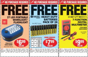 Free Worklight, Batteries, and Multimeter From Harbor Freight Tools