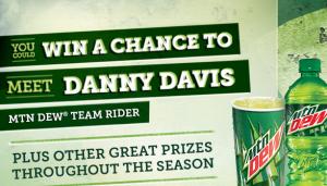 Mountain Dew Danny Davis Sweepstakes