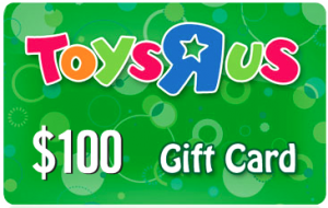 Enter To Win A $100 Toys R Us Gift Card