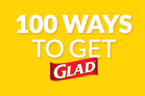 The 100 Ways to Get Glad Promotion