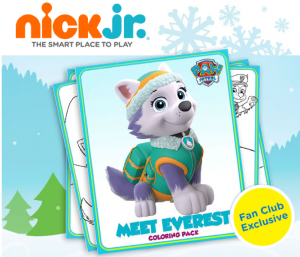 Free Printable Nick Jr. Everest Coloring Pack