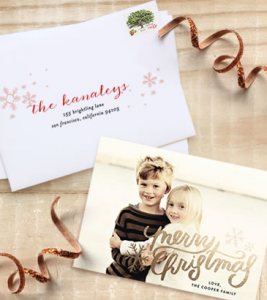 Free Foil Pressed Holiday Card Sample From Minted