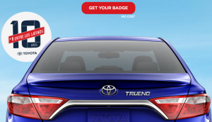 Free Personalized Toyota Car Badge