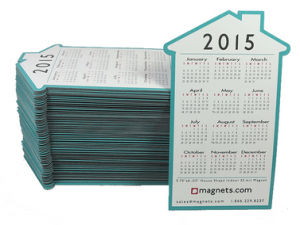 Free 2015 House Shaped Calendar Magnet