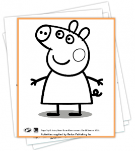 Free Printable Peppa Pig Coloring Book (5 Pages)
