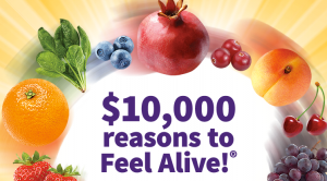 The $10,000 Feel Alive! Sweepstakes & Instant Win