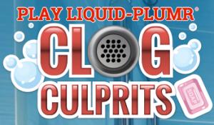 Liquid-Plumr Clog Culprits Instant Win Game