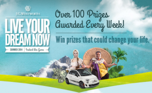 J.G. Wentworth Live Your Dream Now Instant Win Game