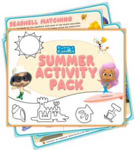 Free Printable Bubble Guppies Summertime Activity Pack