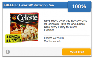 Free Celeste Pizza For One