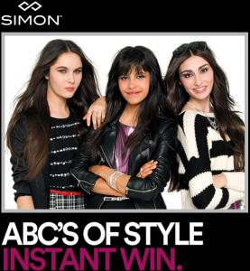 Simon ABC's of Style Instant Win