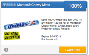 Free Roll Of Mentos Chewy Mints