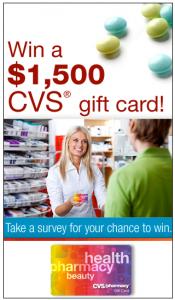 Enter To Win A $1,500 CVS Gift Card