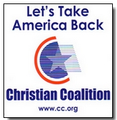 "Free 4""X4"" Christian Coalition Window Decal"