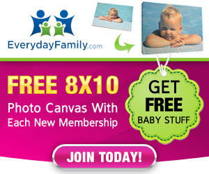 Free 8x10 Photo Canvas From Everyday Family For New Members