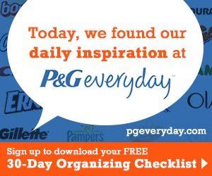 Free 30-Day Organizing Checklist From P&G