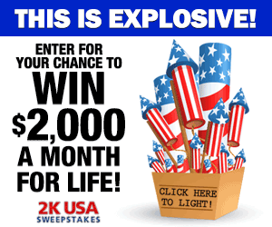 2K USA Sweepstakes - Win 2 Grand A Month For Life