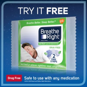 Free Sample Of Breathe Right Nasal Strips From Costco