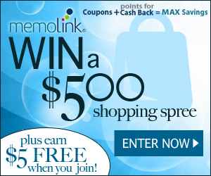 Memolink $500 Shopping Spree Giveaway