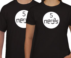 Free 5 Nerds Software Tee Shirt