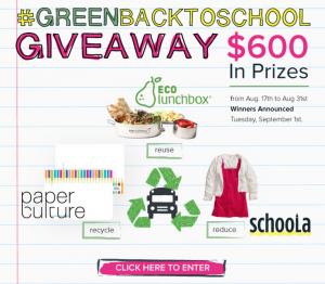 #greenbacktoschool Giveaway