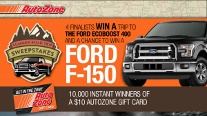 Autozone Summer Road Trip Instant Win Game & Sweepstakes