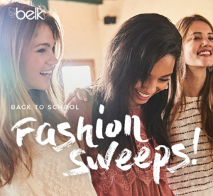 Belk Back to School Fashion Sweeps