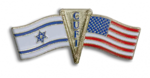Free Christians United For Israel Pin