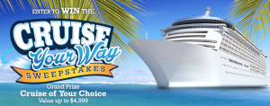 Enter The Cruise Your Way Sweepstakes