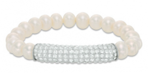 Enter To Win A Cultured Freshwater Pearl and Crystal Bar Strand Bracelet