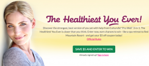 Culturelle Healthiest You Ever Sweepstakes and Instant Win