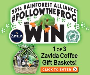 Rainforest Alliance Zavida Coffee Gift Basket Giveaway
