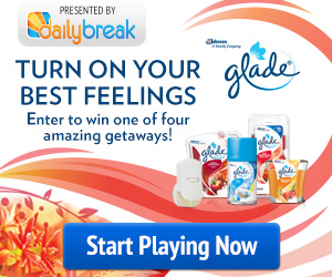 DailyBreak - Glade Best Feelings Giveaway + Coupon