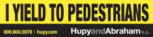 "Free ""I Yield To Pedestrians"" Bumper Sticker"