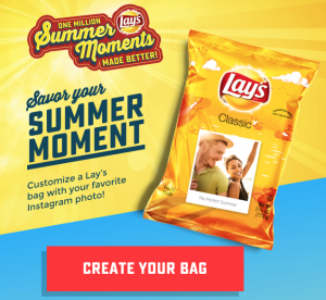 Free Lays Custom Chip Bag
