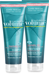 Free Sample Of John Frieda Luxurious Volume Shampoo & Conditioner