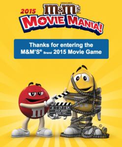 M&M's Brand 2015 Movie Game