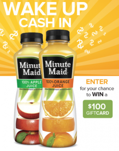 Minute Maid Own the Morning Instant Win Game
