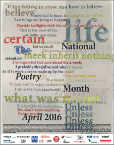 Free 2016 National Poetry Month Poster
