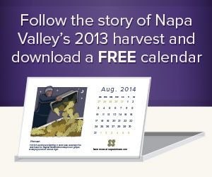 Napa Valley 2013 Harvest Calendar Giveaway