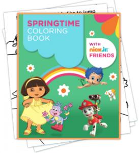 Free Nick Jr. Springtime Printable Coloring Book